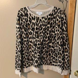 Liz Claiborne Leopard Sweater-XL